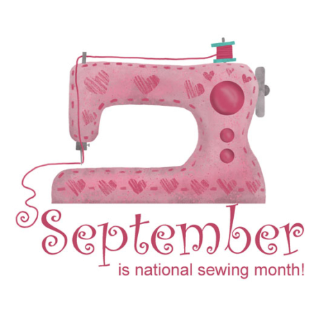 September is national sewing month digital drawing by Michelle Goggins
