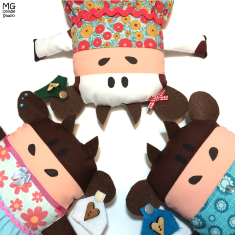 Cow softies by Michelle Goggins mg doodle studio
