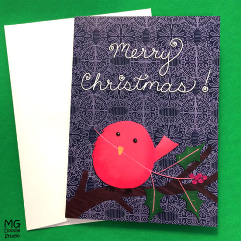 Christmas card by Michelle Goggins at MG Doodle Studio