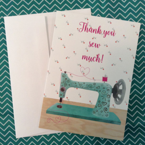 Thank you sew much card by Michelle Goggins at MG Doodle Studio